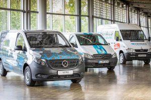 Elektrokooperation zwischen Hermes und Mercedes. Foto: Daimler