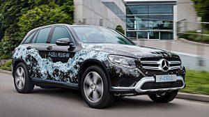 Mercedes GLC F-Cell hat eine Brennstoffzelle. Foto: Daimler