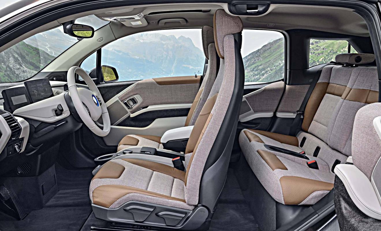 Der Innenraum des BMW i3. Foto: BMW