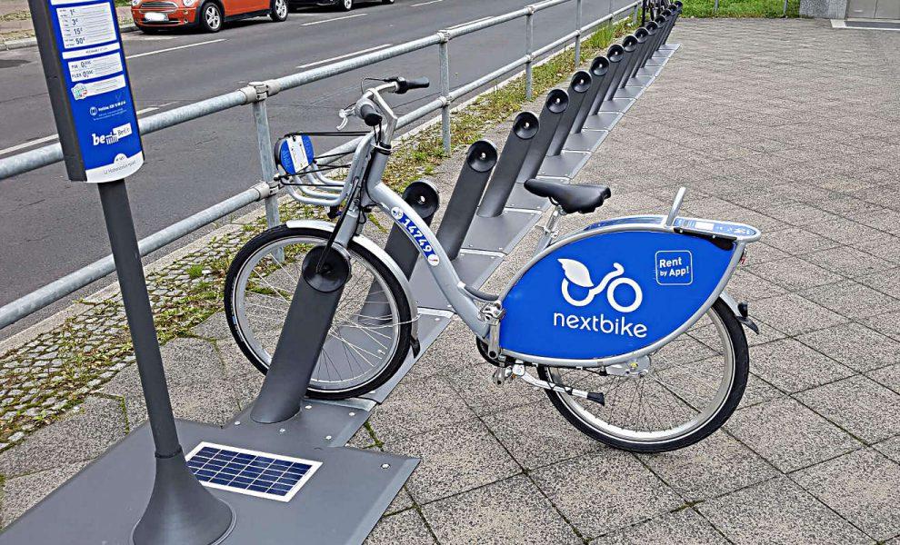 Eine Fahrrad-Verleihstation in Berlin. Foto: Mertens