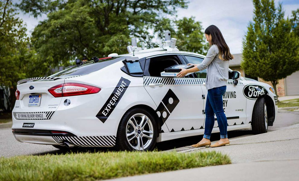 Ford und Dominos testen den autonomen Lieferservice. Foto: Ford