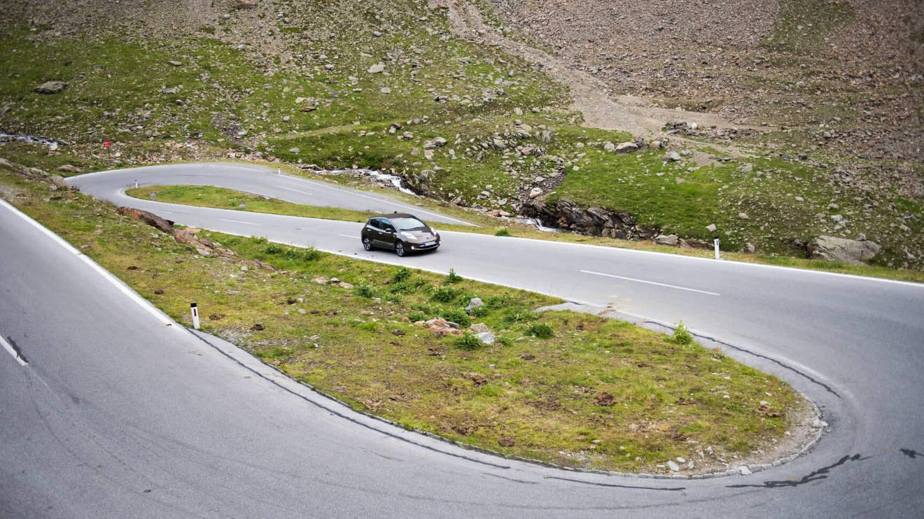 Elektrisch unterwegs mit dem Nissan Leaf. Foto: Lina Grün