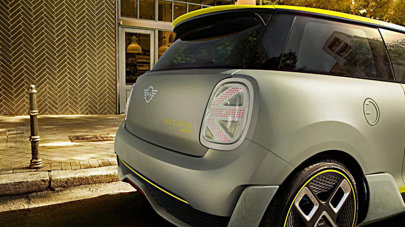 Die Rückleuchten am Mini Electric Concept. Foto: BMW