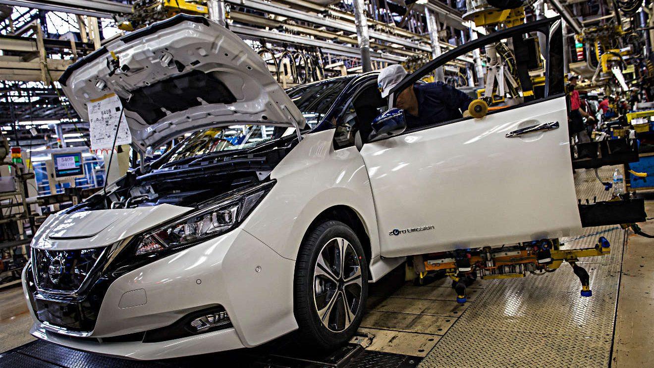 Produktion des Nissan Leaf in Japan. Foto: Nissan