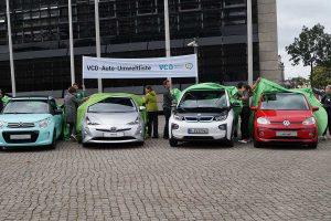 Insgesamt 34 Autos stehen auf der Umweltliste vom Verkehrsclub Deutschland. Foto: AG/Flehmer