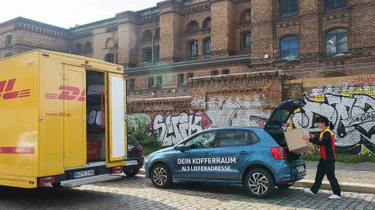 Volkswagen und DHL starten ein Pilotprojekt der Paketzustellung. Foto: VW