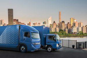 Mitsubishi Fuso präsentiert einen vollelektrischen schweren Lkw. Foto: Daimler