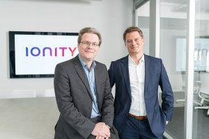 Die Ionity-Geschäftsführung COO Marcus Groll (l) und CEO Michael Hajesch