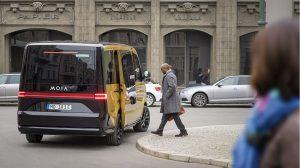 Weltpremiere feiert das erste Elektroauto von Moia. Foto: Moia