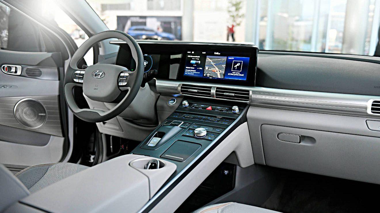 Cockpit des Hyundai Nexo.