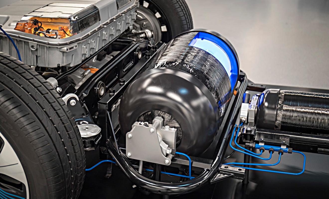 anks im Mercedes GLC F-Cell. Foto: Daimler