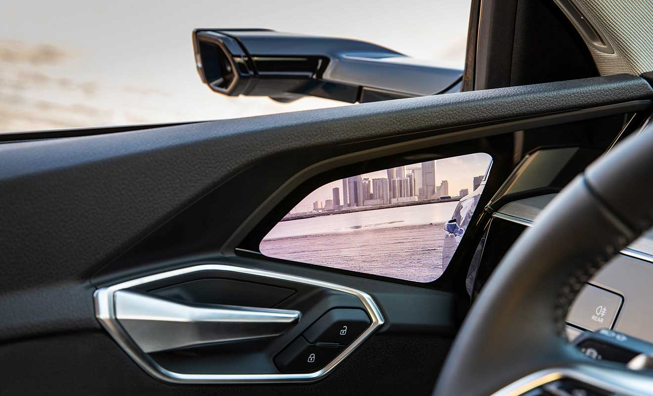 Audi setzt auf Kameras statt Rückspiegel. Foto: Audi